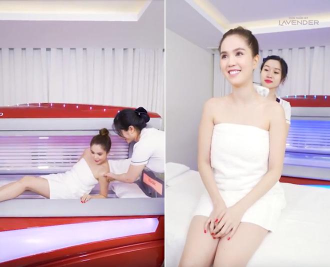 """Sau màn """"đáp trả"""" anti-fan, Ngọc Trinh livestream đi tắm trắng - 1"""