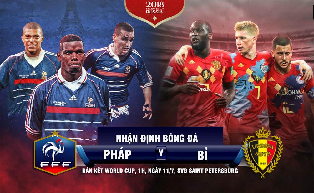 """Nhận định bán kết World Cup Pháp - Bỉ: """"Cuồng phong"""" Mbappe cuốn phăng """"lốc đỏ""""? - 1"""