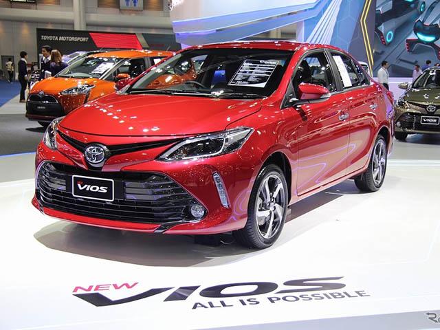 Bảng giá xe Toyota Vios cập nhật mới nhất
