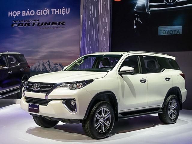 Bảng giá xe Toyota Fortuner cập nhật mới nhất