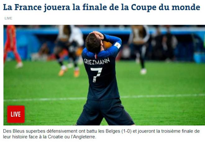 """Pháp vào chung kết World Cup: Báo chí mơ cúp vàng, huyền thoại Anh """"sợ hãi"""" Mbappe - 1"""