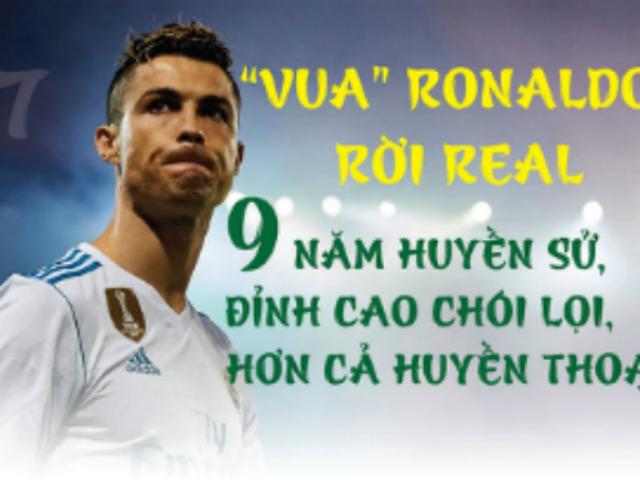 """""""Vua"""" Ronaldo rời Real: 451 bàn thắng/438 trận, vinh danh ông hoàng kỷ lục"""