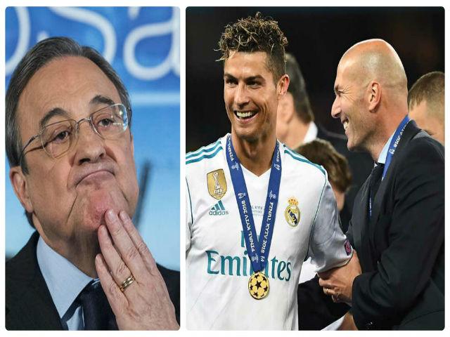 """Real mất cả Ronaldo và Zidane 40 ngày: Âm mưu làm bẽ mặt """"ông trùm"""" Perez"""