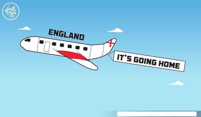 """Chết cười vì cộng đồng mạng lại tìm ra tờ lịch """"tiên tri"""" đoán đúng đội tuyển Anh về nước - 1"""