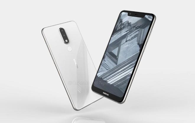 Ảnh Nokia 5.1 Plus xuất hiện, camera kép và màn hình tai thỏ - 1