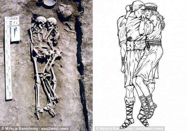 Ukraine: Tình nguyện chôn sống để ôm chồng suốt 3.000 năm dưới mộ - 1