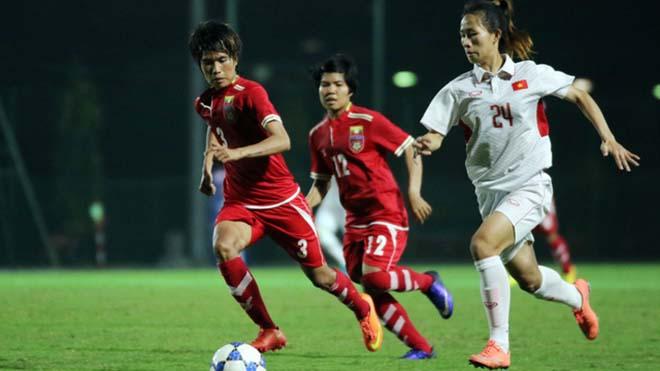 ĐT nữ Việt Nam - Myanmar: Solo như Messi, định đoạt 2 phút 2 bàn - 1