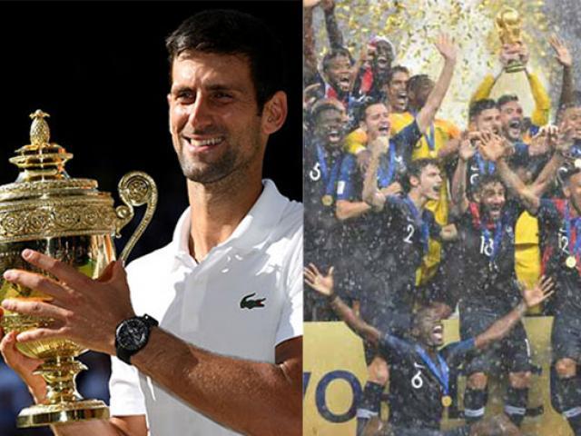 """Djokovic số """"hẩm hiu"""": Lần 4 vô địch Wimbledon bị World Cup làm lu mờ"""