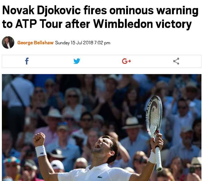Djokovic vô địch Wimbledon: Big Three trở lại, báo chí cảnh báo Federer & Nadal - 1