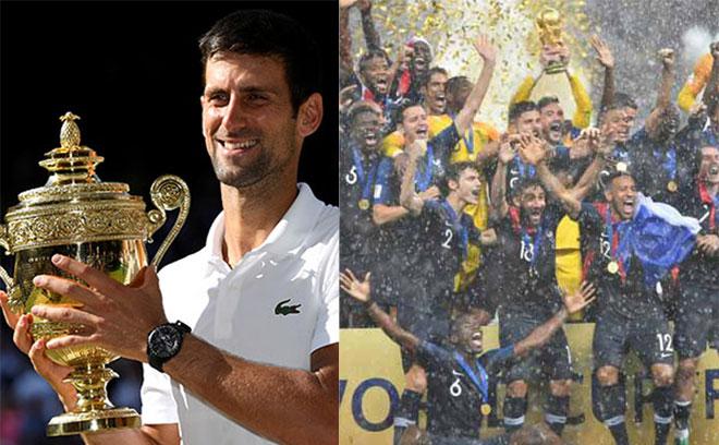 """Djokovic số """"hẩm hiu"""": Lần 4 vô địch Wimbledon bị World Cup làm lu mờ - 1"""