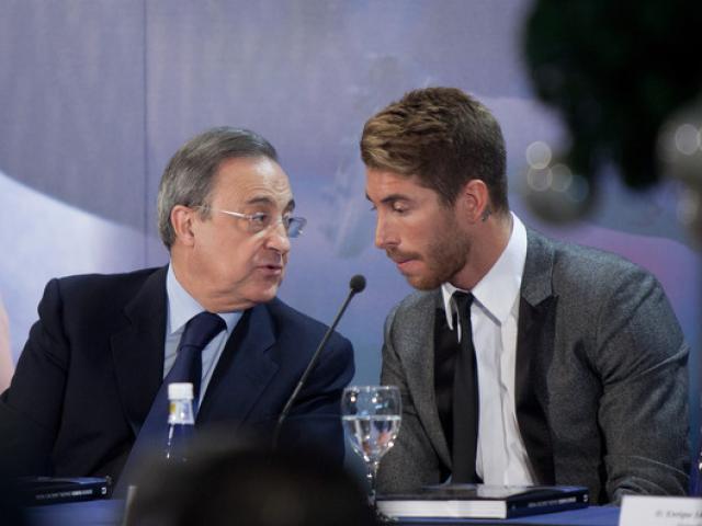 """Real sóng gió hậu trường: Mất Ronaldo, Ramos """"bật"""" ông trùm Perez vì số 7 mới"""
