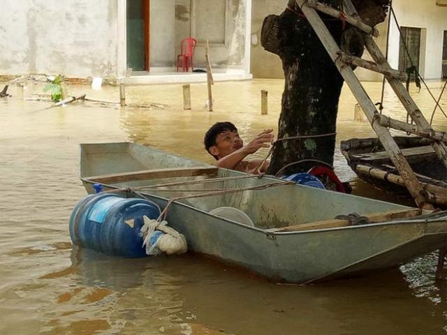 Thanh Hóa: Lũ tràn về, dân trèo cây tháo chạy