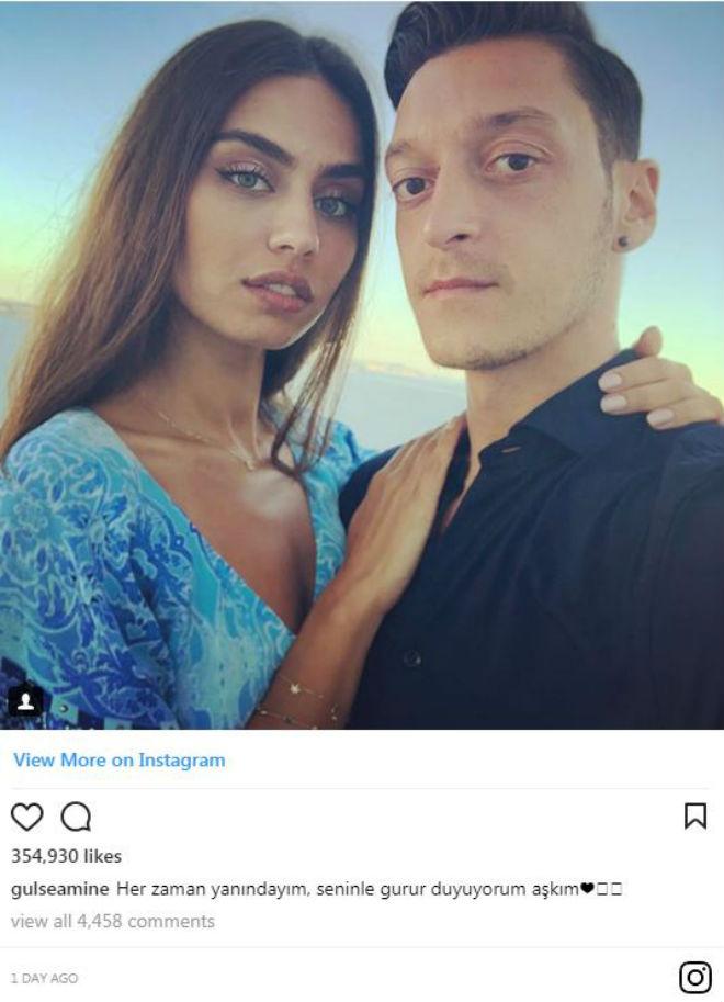 Cay đắng rời ĐT Đức, Ozil được bạn gái hoa hậu xoa dịu nỗi đau - 1