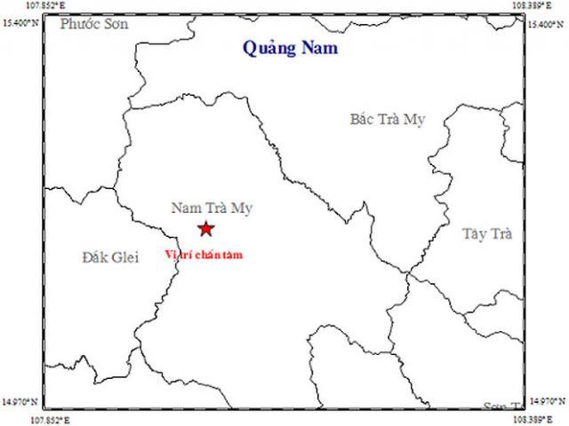 4 trận động đất liên tiếp xảy ra ở Quảng Nam