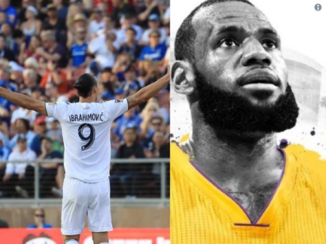 """Choáng: """"Chúa"""" Ibrahimovic sẽ chơi bóng rổ với """"Vua"""" LeBron James"""