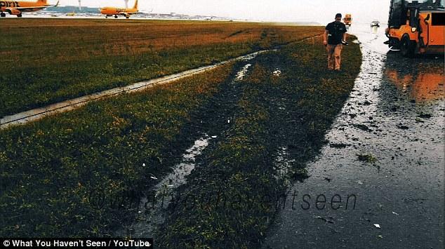 Thói tim cảnh Boeing 747 của TQ hạ cánh trượt đường băng ở Mỹ - 1