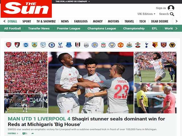 MU thua thảm Liverpool: Báo Anh chê Mourinho, choáng váng Salah-Mane