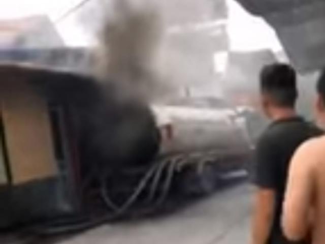 Thùng xe bồn phát nổ như bom, người đàn ông tử vong tại chỗ