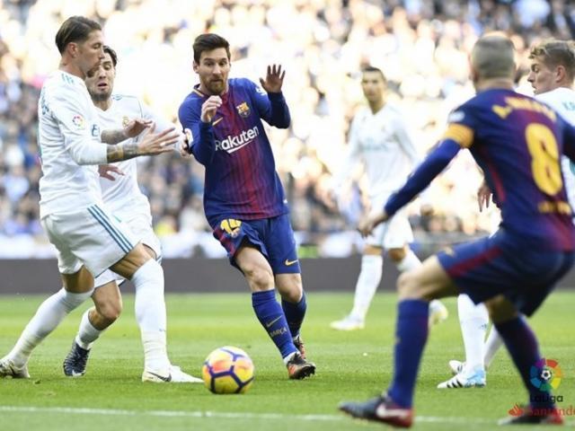 """Barca mơ đè Real không Ronaldo, tái lập cú ăn ba: """"Vật cản"""" ở Messi?"""