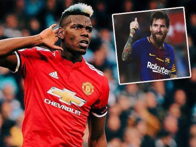 """Barca - Messi gây chấn động: Mua """"Vua World Cup"""" Pogba 150 triệu euro"""
