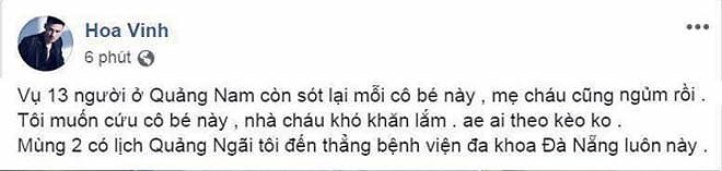 Hoa Vinh dùng lời gây sốc khi nói về vụ tai nạn Quảng Nam - 1