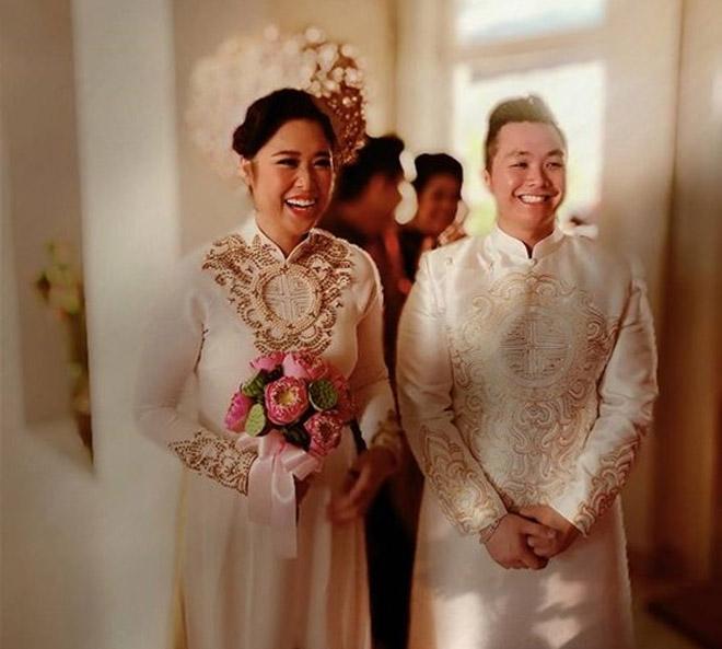 NSND Hồng Vân, diễn viên Lê Tuấn Anh hạnh phúc trong ngày con gái lên xe hoa - 1