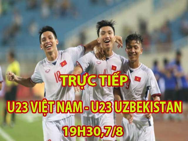 Trực tiếp bóng đá Cúp Tứ hùng U23 Việt Nam - U23 Uzbekistan: Tam tấu Quang Hải - Anh Đức - Công Phượng