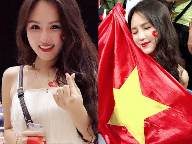 """""""Đứng hình"""" với dàn hot girl """"thả tim"""" đêm U23 Việt Nam vô địch"""