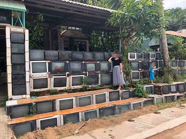 Ngôi nhà sử dụng hàng rào từ tivi cũ ở Việt Nam lên sóng báo nước ngoài - 1