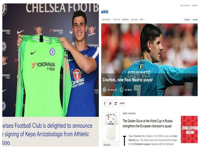 """CHÍNH THỨC: Chelsea nổ """"bom tấn"""" Kepa 72 triệu bảng, Courtois đến Real"""