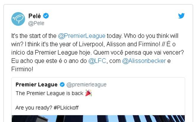 Tin nóng Ngoại hạng Anh 11/8: Pele dự đoán Liverpool vô địch - 1