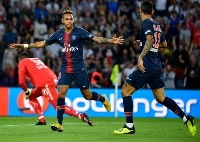 """PSG - Caen: Neymar """"khai hỏa"""", nhận quà ngày ra quân - 1"""