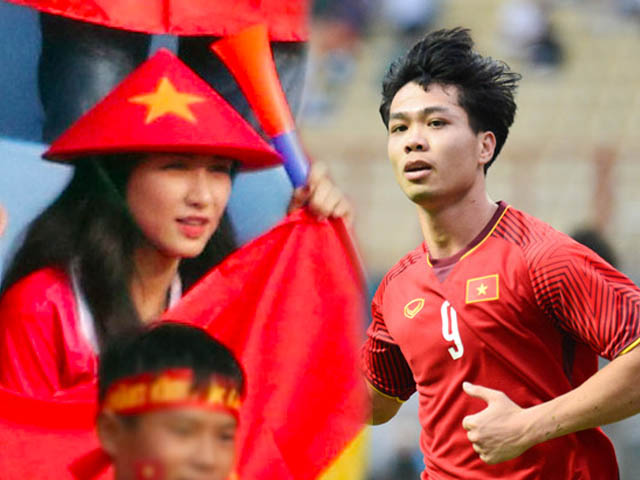 Quiet support U23 Vietnam, Hoa Minnie still attracts attention because it is too beautiful