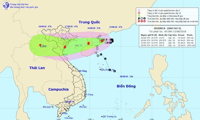 Bão số 4 gió giật cấp 11, tăng tốc hướng vào Quảng Ninh – Nghệ An - 1