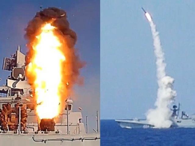 Tàu chiến Nga phóng tên lửa ngay trước mắt chiến hạm Mỹ