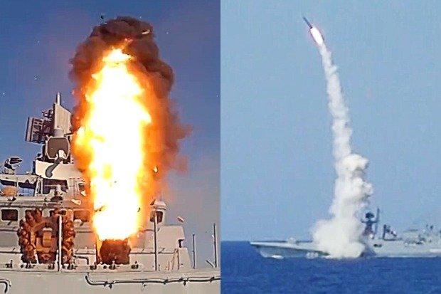 Tàu chiến Nga phóng tên lửa ngay trước mắt chiến hạm Mỹ - 1