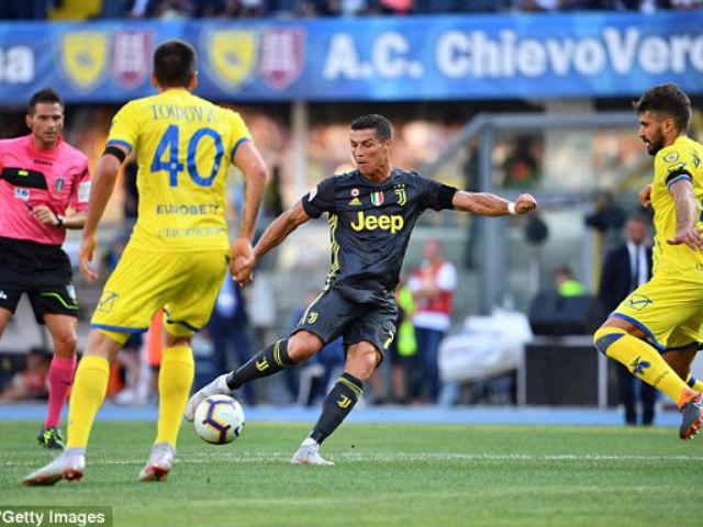 """Chievo - Juventus: Ngược dòng nghẹt thở, Ronaldo """"gây bão"""""""