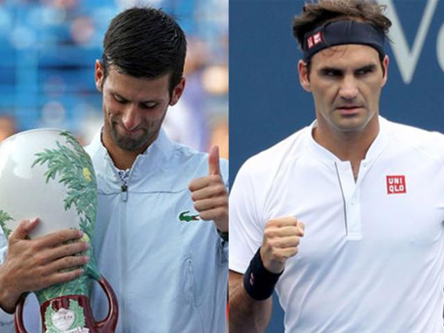 "Bảng xếp hạng tennis 20/8: Djokovic ""bay cao"", Federer tiến gần Nadal"