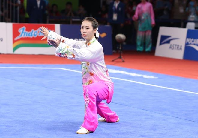 ASIAD: Người đẹp wushu múa kiếm, Khánh Ly trượt huy chương tiếc nuối - 1