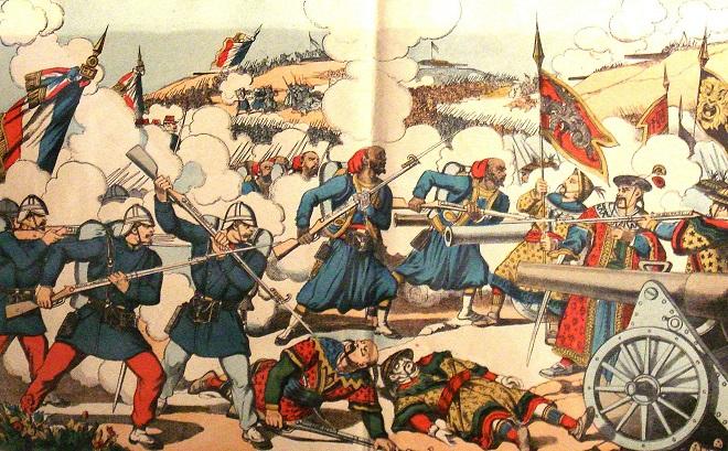 Hạm đội hùng hậu TQ bị hải quân Pháp