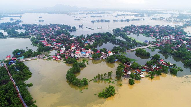 Ảnh: Cảnh hoang tàn sau một tháng ngập lụt ở vùng rốn lũ Chương Mỹ - 1