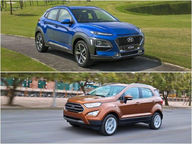 So sánh Hyundai Kona 1.6 Turbo và Ford Ecosport 1.0 Ecoboost