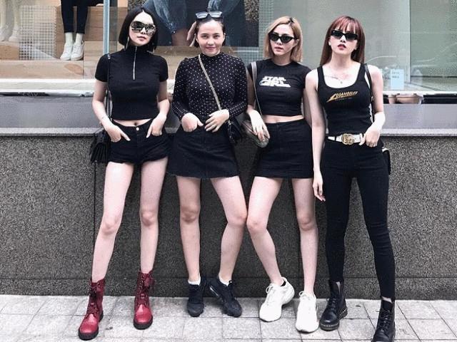 """4 chị em chân siêu dài nhà """"bạn gái"""" Sơn Tùng khiến mày râu mê mẩn"""