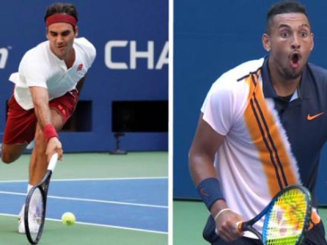 """Clip hot US Open: Federer chạy như cơn lốc ghi điểm, """"Trai hư"""" há hốc mồm"""