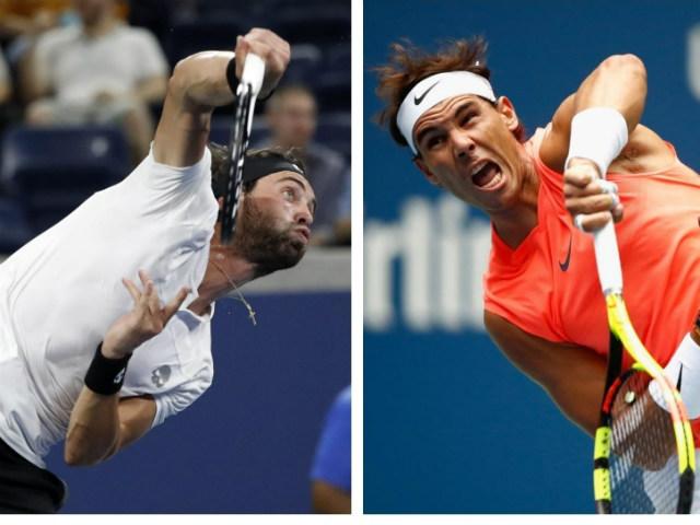 Clip hot US Open: Đối thủ quá lỳ lợm, Nadal toát mồ hôi