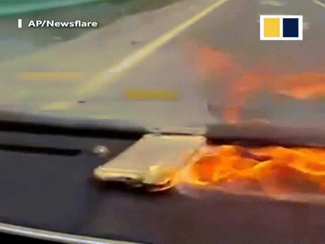 iPhone 6 bất ngờ nổ tung, nữ tài xế la hét thất thanh