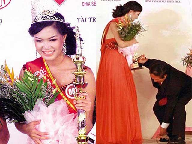 Chuyện ít ai biết về những sự cố rơi vương miện Hoa hậu Việt Nam