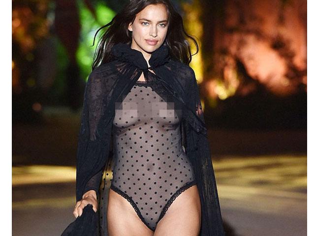Irina Shayk tự tin catwalk sau 16 tháng sinh con