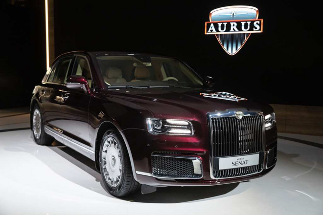 """Ảnh thực tế Aurus Senat - """"Rolls Royce"""" của nước Nga"""