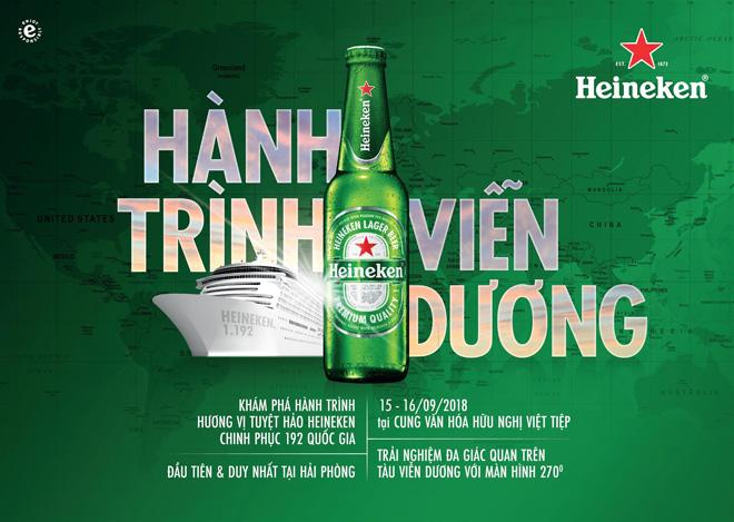 Lần đầu tiên và duy nhất tại Hải Phòng, khám phá hương vị Heineken trên chuyến tàu qua 192 quốc gia - 1